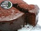 Рецепта Шоколадова сиропирана торта с глазура